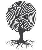 Árbol de la huella dactilar ilustración del vector