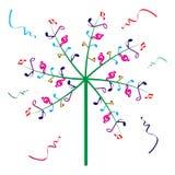Árbol de la música Stock de ilustración