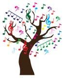 Árbol de la música Imágenes de archivo libres de regalías