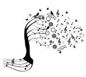 Árbol de la música Foto de archivo libre de regalías