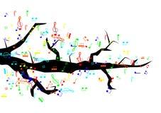 Árbol de la música Fotos de archivo libres de regalías