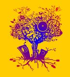 Árbol de la música Fotografía de archivo libre de regalías
