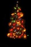 Árbol de la música de Navidad Fotos de archivo
