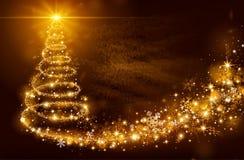 Árbol de la magia de la Navidad stock de ilustración