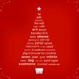 Árbol de la palabra de la Navidad Fotos de archivo libres de regalías