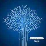 Árbol de la placa de circuito Foto de archivo libre de regalías