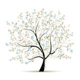 Árbol de la primavera con las flores para su diseño Fotos de archivo libres de regalías