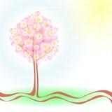 Árbol de la primavera ilustración del vector