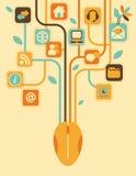 Árbol de la red Foto de archivo libre de regalías