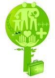 Árbol de la salud de la medicina Foto de archivo