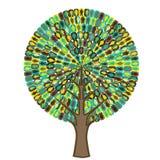 Árbol de la sociología - icono de la gente Fotografía de archivo libre de regalías