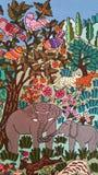 Árbol de la tapicería de la vida foto de archivo libre de regalías