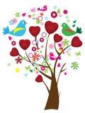 Árbol de la tarjeta del día de San Valentín Imagenes de archivo