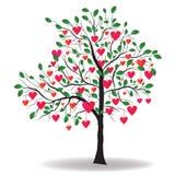 Árbol de la tarjeta del día de San Valentín Foto de archivo