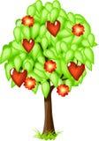 Árbol de la tarjeta del día de San Valentín Fotos de archivo libres de regalías