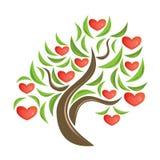 Árbol de la tarjeta del día de San Valentín. Fotos de archivo libres de regalías