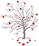 Árbol de la tarjeta del día de San Valentín Fotos de archivo