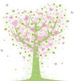 Árbol de la tarjeta del día de San Valentín stock de ilustración
