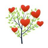 Árbol de la tarjeta del día de San Valentín del día Foto de archivo