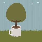Árbol de la taza stock de ilustración