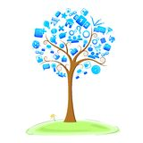 Árbol de la tecnología Fotos de archivo libres de regalías