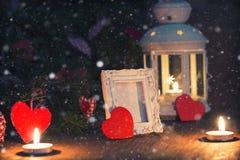 Árbol de la vela de la iluminación Imágenes de archivo libres de regalías
