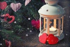 Árbol de la vela de la iluminación Imagenes de archivo