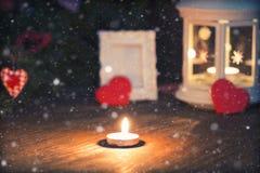 Árbol de la vela de la iluminación Imagen de archivo