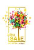 Árbol de la venta de la primavera Fotografía de archivo
