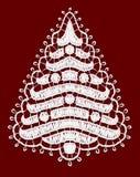 Árbol de Lacy Christmas. ilustración del vector