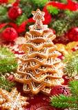 Árbol de las galletas del jengibre Imagen de archivo libre de regalías