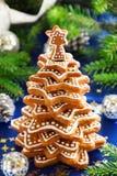 Árbol de las galletas del jengibre Fotos de archivo libres de regalías