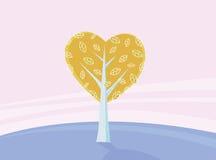Árbol de las tarjetas del día de San Valentín del amor Fotos de archivo