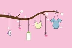 Árbol de los artículos del bebé Foto de archivo libre de regalías