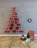 Árbol de los rectángulos de la Navidad Imagen de archivo