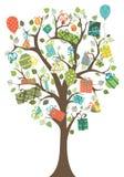 Árbol de los regalos Imagenes de archivo