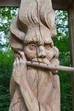 Árbol de madera de sculpture Fotos de archivo libres de regalías