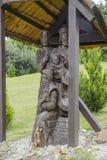 Árbol de madera de sculpture Imágenes de archivo libres de regalías