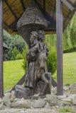 Árbol de madera de sculpture Foto de archivo libre de regalías