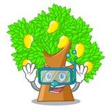 Árbol de mango que se zambulle en la forma de la historieta libre illustration