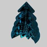Árbol de navidad abstracto Imagen de archivo libre de regalías