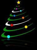 Árbol de navidad abstracto [2] stock de ilustración