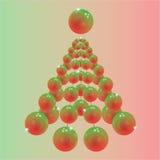 Árbol de navidad abstracto Stock de ilustración
