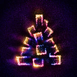 Árbol de navidad abstracto construido de estrellas fotos de archivo libres de regalías