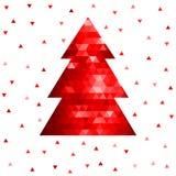 Árbol de navidad abstracto del mosaico Imagenes de archivo
