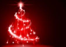 Árbol de navidad abstracto del relámpago Foto de archivo libre de regalías