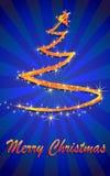 Árbol de navidad abstracto del resplandor imagenes de archivo