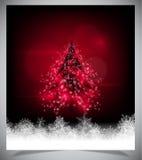 Árbol de navidad abstracto moderno, EPS 10 Imágenes de archivo libres de regalías