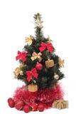 Árbol de navidad adornado Fotografía de archivo