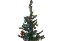 Árbol de navidad adornado Imagen de archivo